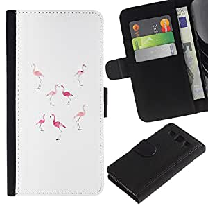 iKiki Tech / Cartera Funda Carcasa - Pink Peach White Minimalist Florida - Samsung Galaxy S3 I9300