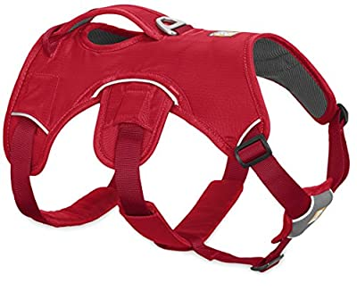Ruffwear New 2017 Red Web Master Dog Harness ? Secure Reflective Supportive Multi Use ? All Sizes