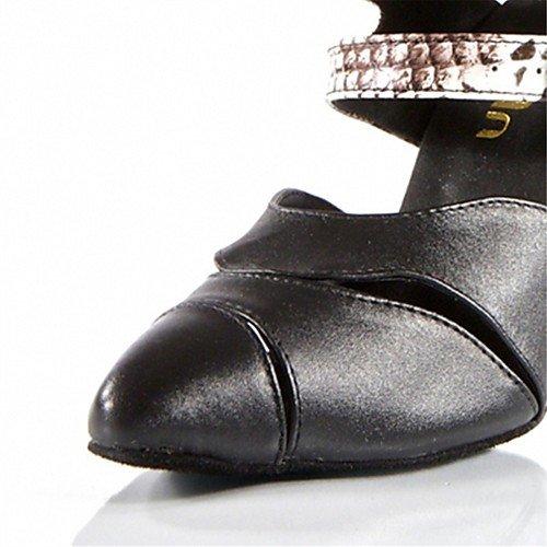misura Q T nero moderne donna da su in similpelle tacco T in Nero da Scarpe ballo Pgq5qw