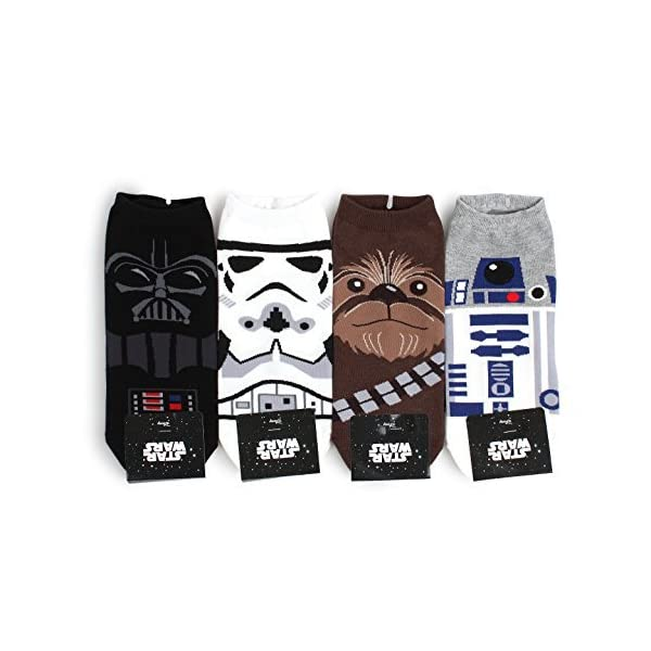 Star-Wars-Socks-Collection-Men-and-Women-Socks-Mens-LowcutNIA-4pairs-One-Size-Fits-all-Mens-85-11Womens-6-85