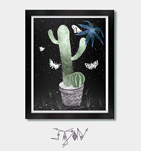 Cold Clear Light. Cactus Art, Arizona, Cacti Art, Phoenix, Desert Cactus Art, Tucson, Cactus Lover Gift, Succulent Lover Gift, Mexican, Southwestern, Southwest, New Mexico by Jason Smith Art