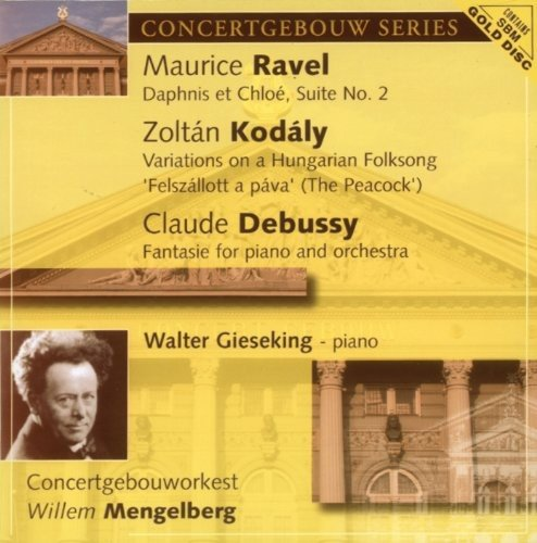 CD : Kodaly Ravel & Debussy - Debussy: Fantasie For Pno & Orch (CD)
