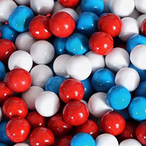 American Spirit Patriotic Sixlets Mini Milk Chocolate Balls 1LB Bag (Balls Chocolate Mini)