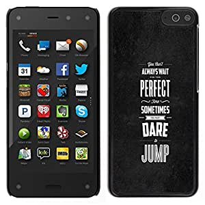 EJOY---Cubierta de la caja de protección la piel dura para el / Amazon Fire Phone / --Perfecto veces se atreven saltar