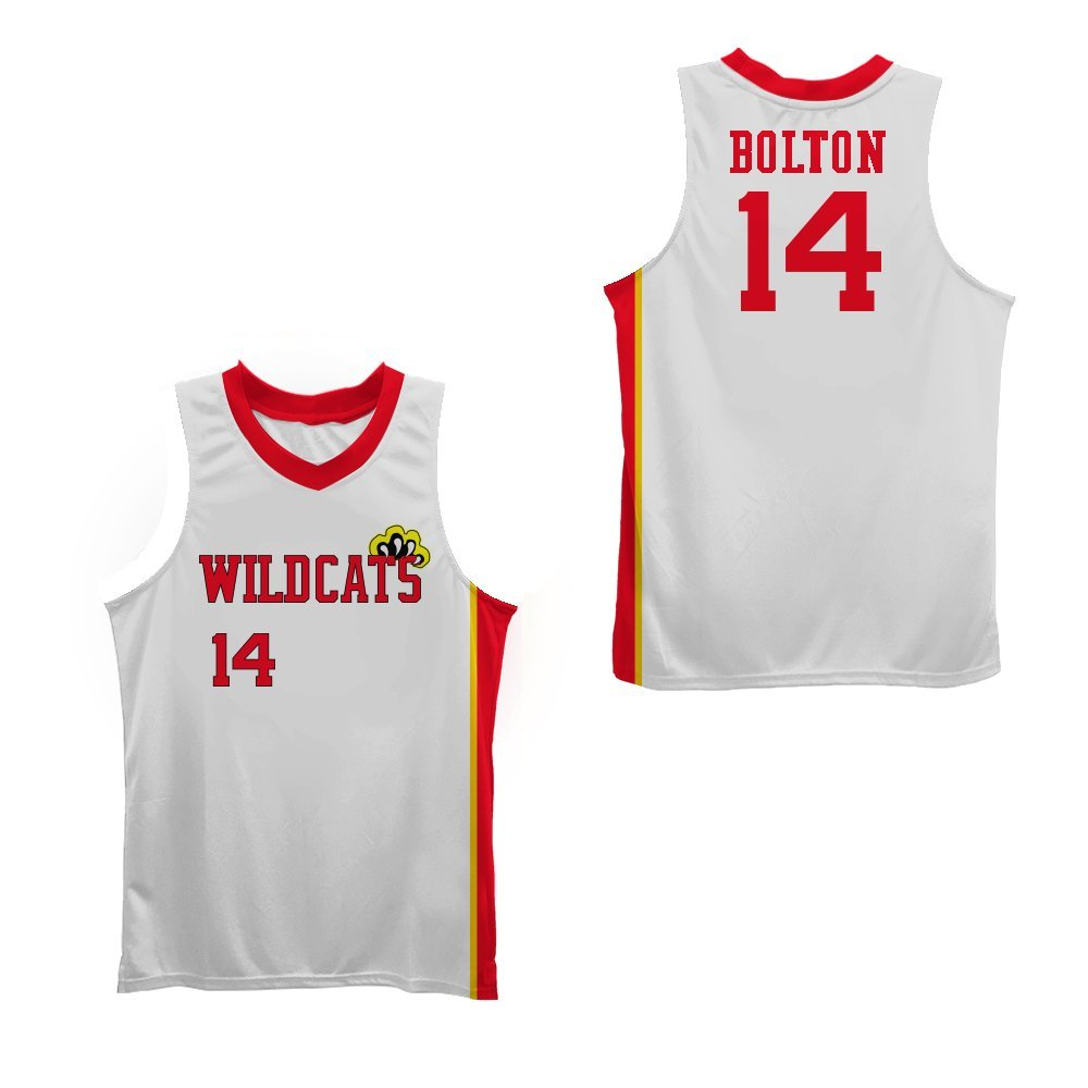 Boriz zac e troy bolton east high school wildcats claws white stitch  basketball jersey clothing jpg 61569b723