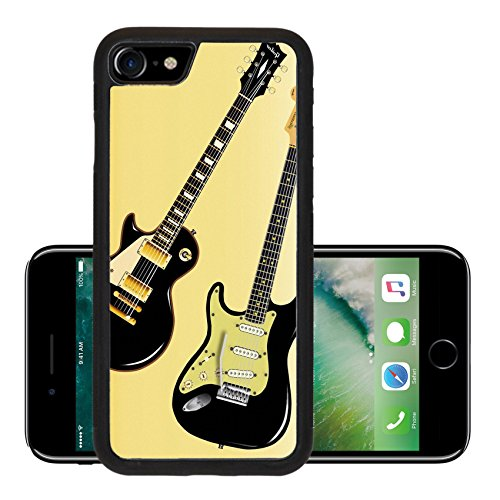 Luxlady Premium Apple iPhone 7 Aluminum Backplate Bumper Snap Case iPhone7 IMAGE 19314851 The definitive rock and roll guitars in black