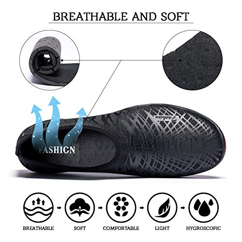 Madaleno Surfing Beach Garden line Shoes Diving for Quick Sports Driving Lightweight Aqua Shoes Black Mens Water Yoga Boating Womens Dry Swim Walking Pr1PAU