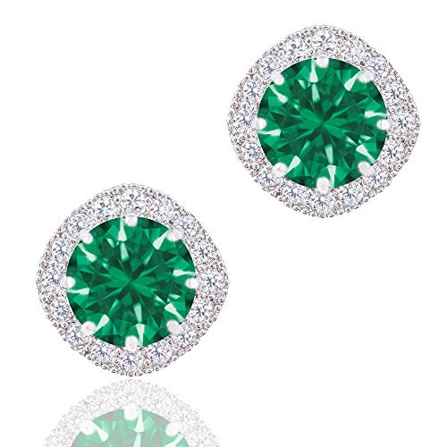 18k-White-Gold-Plated-Cubic-Zirconia-Cushion-Shape-Halo-Stud-Earrings-190-carats-by-ORROUS-CO-by-ORROUS-CO-Legacy-Collection