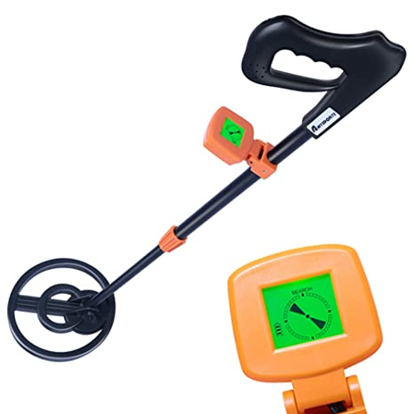 AMYSPORTS Kids Metal Detector Lightweight Metal Finder with LCD Display Sensitive Waterproof Search Coil Outdoor Treasure