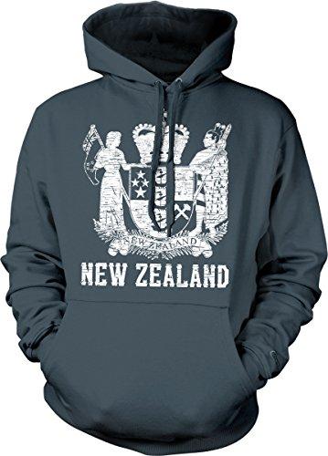 Hoodteez New Zealand Coat of Arms, St. Edward's Crown Hooded Sweatshirt, XL ()
