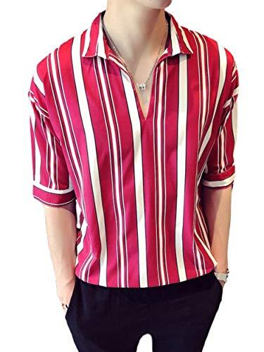[アイラカリラ] アベル ストライプシャツ 縦縞 メンズ