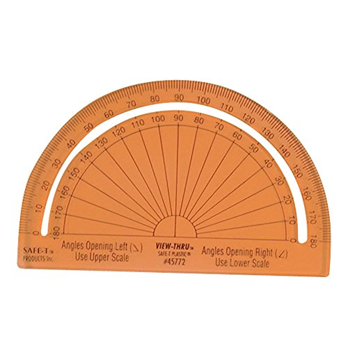 hand2mind 75665 Safe-T Protractor (Pack of 24)