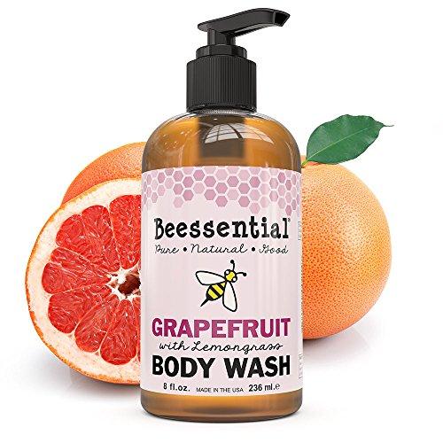 Lemongrass Scented Body Wash (Beessential Body Wash, Grapefruit And Lemongrass, 8 Ounce)