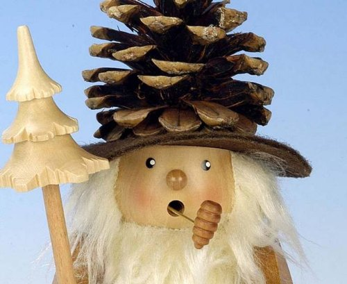 German Incense Smoker Coneman natural colors - 19,5cm / 8 inch - Christian Ulbricht