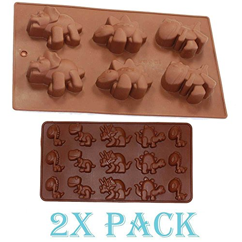Combo 2 pack molds Small and Large Dinosaur Silicone Cake, I