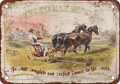 Price comparison product image GHair TBCD El clímax Horsedrawn cortacésped clásico Look reproducción Metal Tin Sign 30.5 x 45.7 cm