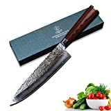 YARENH Damascus Chef Knives 8 Inch with Japanese VG10 Damascus Steel and Exquisite