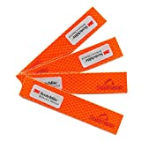 Tofern Waterproof 3M Scotchlite Reflective Stickers Car Auto Safety Reflective Stickers Work for Motorcycle Bicycle Sled and Other Safety Needs All-Weather Outdoor Reflective Tape, 4PCS Orange For Sale