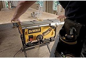 DEWALT DWE7480 10 pulgadas Sierra de mesa compacta con sistema de ...