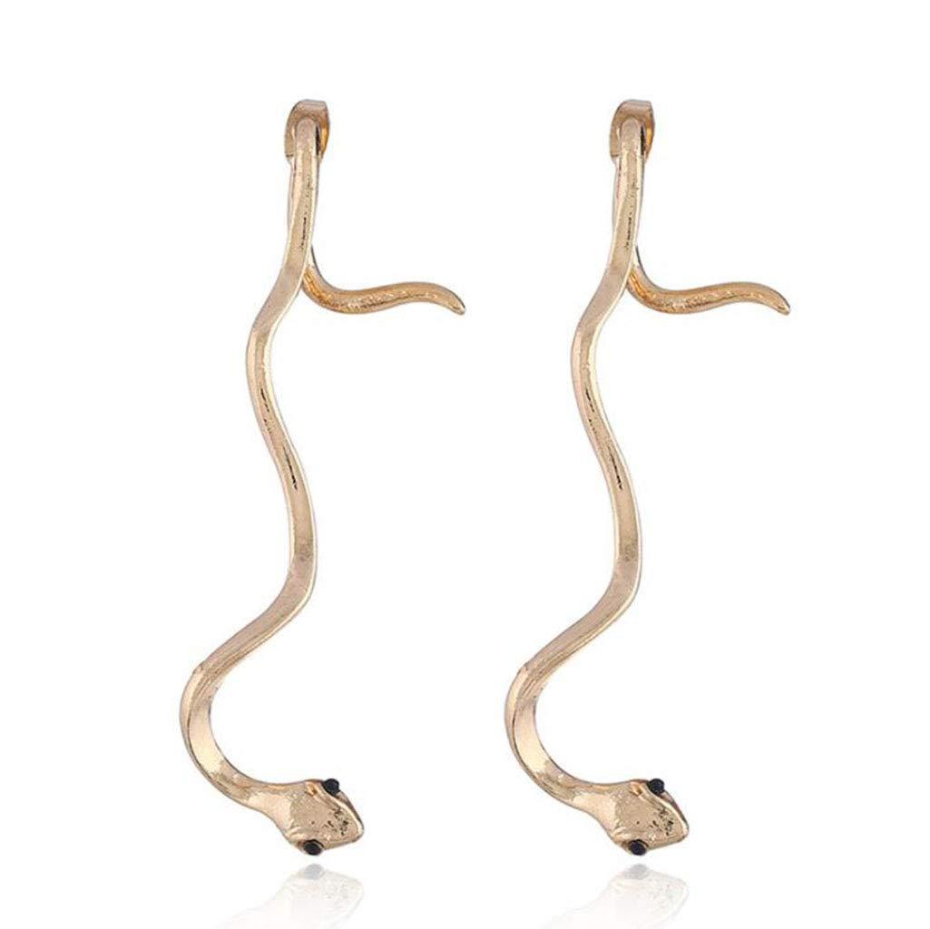 D Fashion Women's Earrings, Accessories Creative Zircon Serpentine Long Earrings Temperament Snake Earrings,A