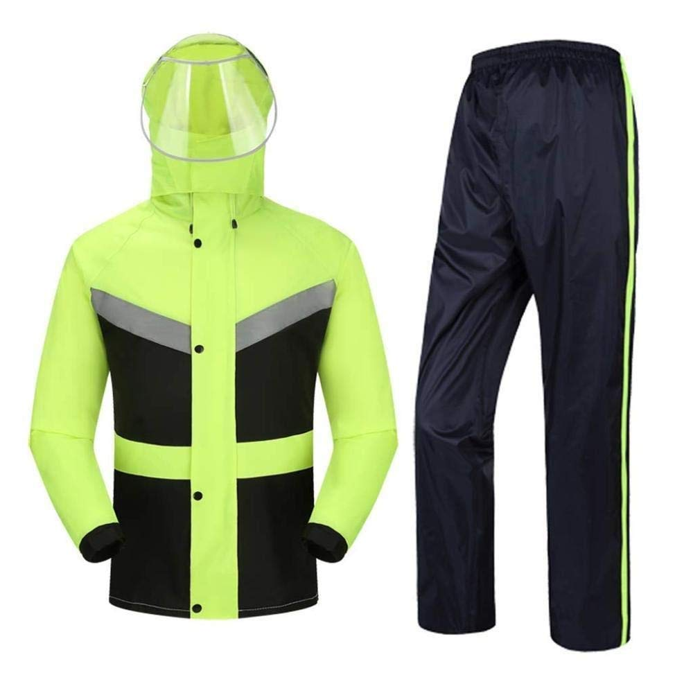 vert XXL HONGYU Imperméable doubleure à capuchon à capuche imperméable pour hommes