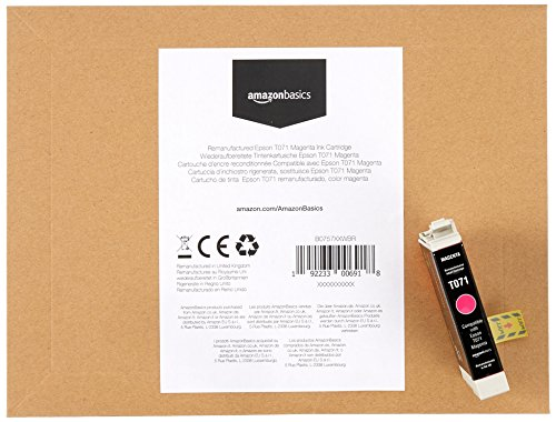 AmazonBasics Remanufactured Ink Cartridge Replacement for Epson T071 4