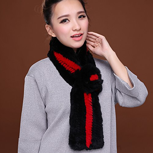 Wuyulunbi@ Autumn and Winter Scarf Knitted Scarf,Red and Black