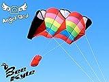 Bee-Kite Angel Sled 2.7 m2 - Cerf-volant ascensionnel monofil 240 x 110 cm KAP Cerf-volant sans assemblage