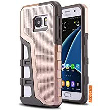 Galaxy S7 Edge Case,Galaxy S7 Edge Cover,[New Ring King Series][Drop Resistant] ACCUCASE Slim Shockproof Dual Layer soft TPU and Hard PC Protective Case for Samsung Galaxy S7 Edge (2016) (Rose Gold)