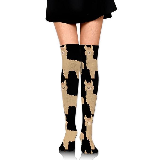44f498e59a6 Alpaca Alpacas Over The Knee Long Socks Tube Thigh-High Sock Stockings For  Girls