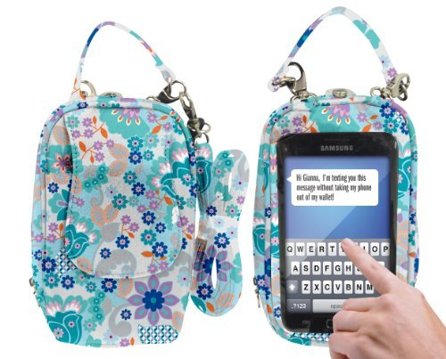 Charm 14 PursePlus Touch Cell Phone Carrying Purse Large - Retail Packaging - Bloom