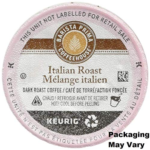 (Barista Prima Coffeehouse Italian Roast K-Cups 96ct for Keurig Brewers - Packaging May Vary)