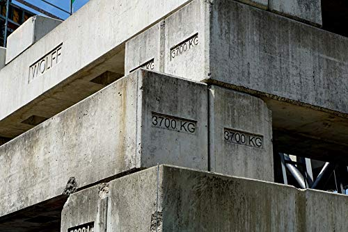 Crane Multi Bracket - Home Comforts Canvas Print Grey Foundation Weight Crane Bracket Concrete Vivid Imagery Stretched Canvas 32 x 24