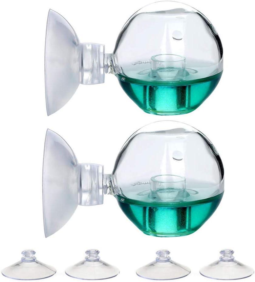 NatureAqua CO2 - Comprobador de comprobación de Tiempo Drop Checker Test, Bola de CO2, comprobador del Monitor de Cristal para Acuario/Acuario/Maceta