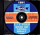 454ss silverado - FULLY ILLUSTRATED 1991 CHEVROLET TRUCK & PICKUP FACTORY REPAIR SHOP & SERVICE MANUAL CD Includes C/K Truck, Silverado, Scottsdale, 454SS, Dually, Extended Cab, 1500, 2500, 3500 Gas & Diesel