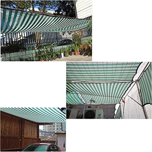 シェードネット カラーストライプシェードクロス、UV耐性シェーディングネット、パティオ植物ペット温室納屋犬小屋パーゴラ (Size : 8x8m)