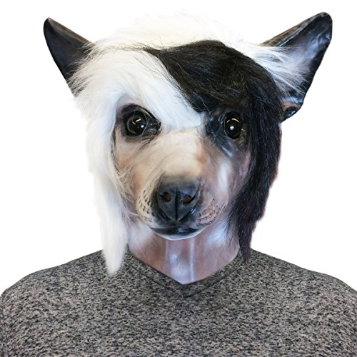 Chinese Crested Dog Costume Face Mask - Off the Wall Toys Kennel Club