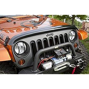 Rugged Ridge 11350.02 Smoked Bug Deflector for 2007-2018 Jeep Wrangler JK and JKU Models