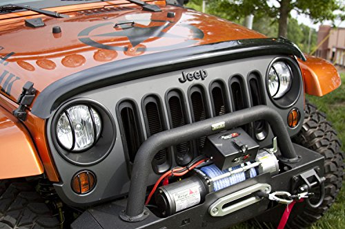Rugged Ridge 11350.02 Smoked Bug Deflector for 2007-2018 Jeep Wrangler JK and JKU Models