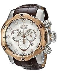 Invicta Men's 0359 Reserve Collection Venom Chronograph Brown Leather Watch