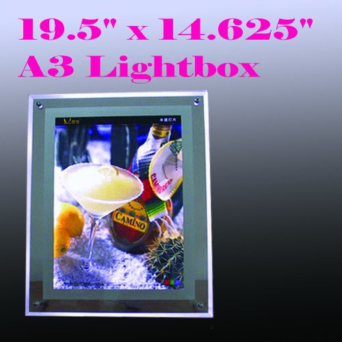 A3 Size LED Slim Crystal Frame Light Box 19.5