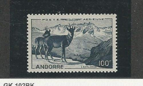 Andorra, French, Postage Stamp, C1 Mint LH, 1950 Animal, JFZ