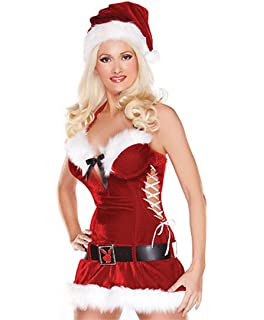 523a59d9485cc High Quality Womans Fancy Miss Santa Costume Dress Sexy Outfit Ladies  Christmas