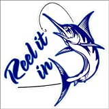 "Have recourse to It In...Funny Fishing Decal Boat Car Truck Removable Fishing Sticker Blue Marlin (5"" x 5"")"