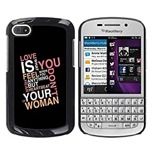 LECELL -- Funda protectora / Cubierta / Piel For BlackBerry Q10 -- Love Is What You Feel --