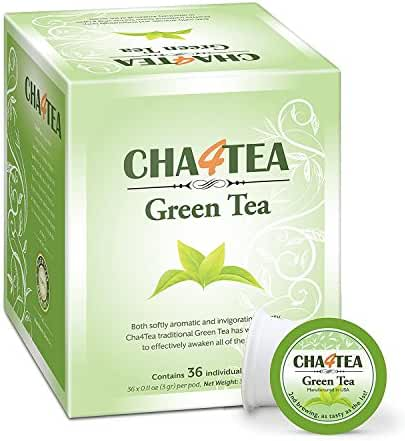 Cha4TEA K-Cup Green Tea, 36-Count Keurig K Cups