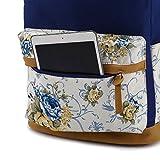 Canvas Backpack for Girls & Women Casual BookBag Laptop Bag Travel Bag Sports Daypack
