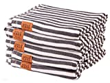 Gold Case Set of 5 XXL Smyrna Turkish Cotton Bath Beach Hammam Towels Peshtemal Towel Throw Blanket (Black)