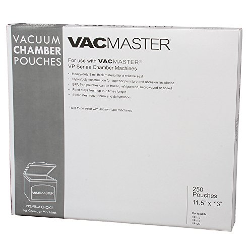 VacMaster 40726 3-Mil Vacuum Chamber Pouches, 11.5 by 13