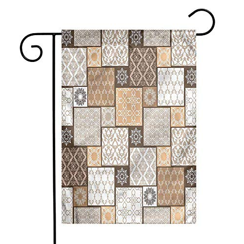 WinfreyDecor Arabian Garden Flag Oriental Patchwork Patterns Premium Material 12